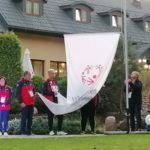 Ceremonia poniesienia flagi Olimpiad Specjalnych.