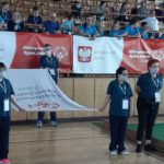 Ceremonia otwarcia zawodów bocce - poczet flagowy.