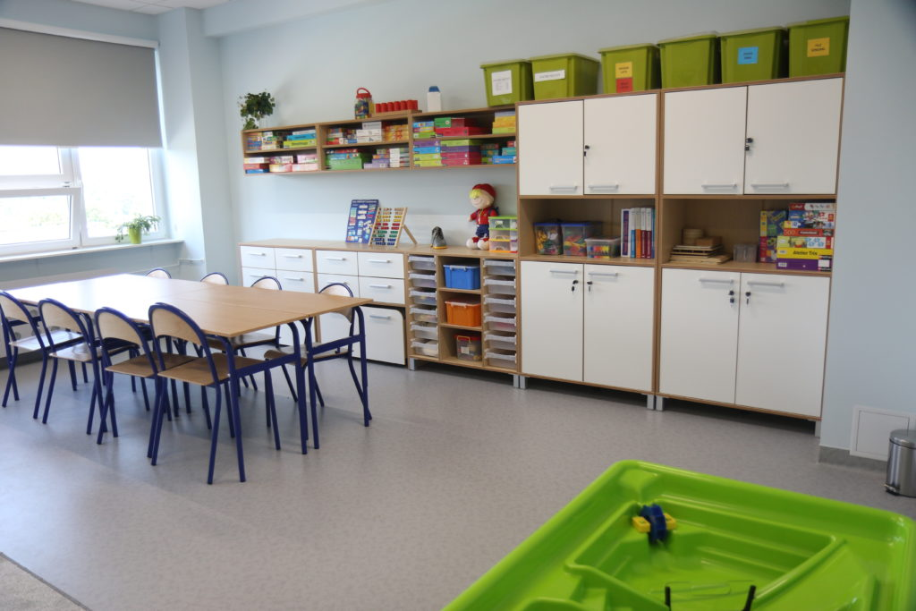Pomieszczenie klasowe.