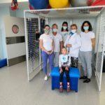 """Grupa uczestników szkolenia """"Dunag"""" w sali rehabilitacji ruchowej."""