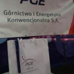 Upominek oraz logotyp sposnora PGE Górnictwo i Energetyka Konwencjinalna S.A.